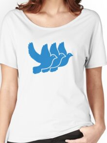 Blue doves Women's Relaxed Fit T-Shirt