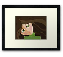 Green eyes portrait Framed Print