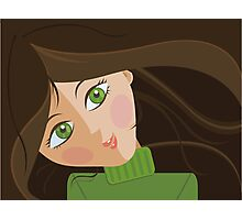 Green eyes portrait Photographic Print