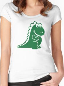 Cute dragon Women's Fitted Scoop T-Shirt