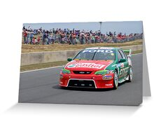 Steve Richards in action Greeting Card