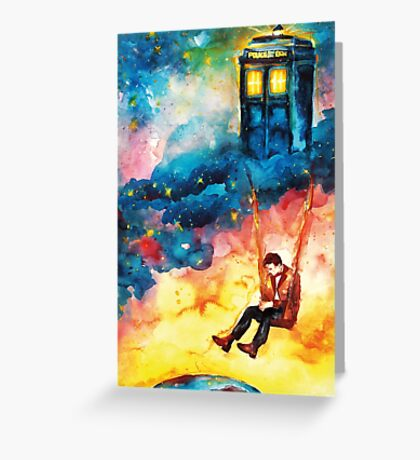 The Man Who Lived On A Cloud - Doctor Who Greeting Card