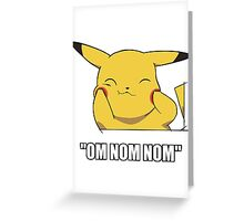 Pikachu Nom Greeting Card
