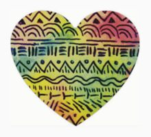colorful tribal heart T-Shirt