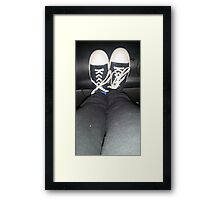 shoes are cool Framed Print