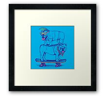 Double Dog Dare Framed Print
