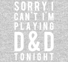 Sorry, D&D Tonight (Modern) White Kids Tee