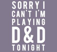 Sorry, D&D Tonight (Modern) White Kids Tee