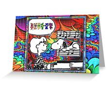 snoopy's notes Greeting Card