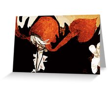 Black Feathers Greeting Card