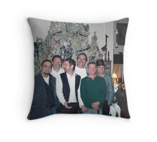 New Years Eve With The Guys Throw Pillow