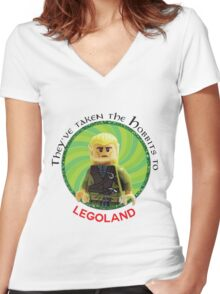 Lego-Las Women's Fitted V-Neck T-Shirt