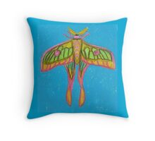 pastel moth Throw Pillow