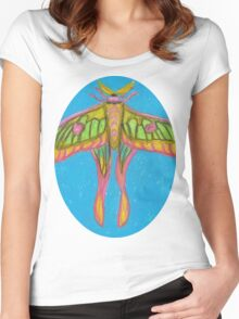 pastel moth Women's Fitted Scoop T-Shirt