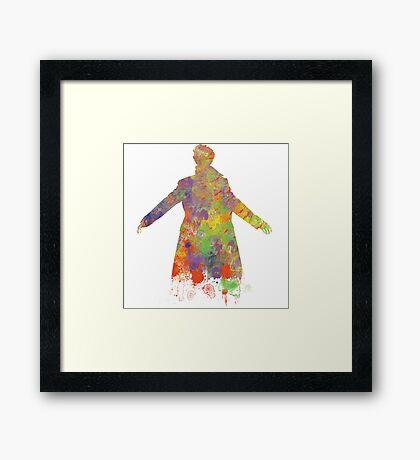 Sherlock Holmes Watercolour Splash Framed Print