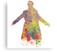 Sherlock Holmes Watercolour Splash Metal Print