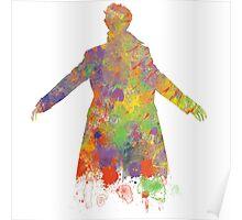 Sherlock Holmes Watercolour Splash Poster