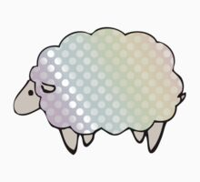 Pastel Rainbow Polkadot Sheep Kids Clothes
