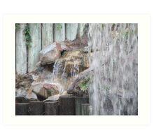Waterfall at Disneyland Hotel Art Print