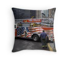 10 truck Liberty Street Throw Pillow