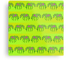 Spotted psychedelic horses Metal Print