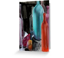 bottles and fruit Greeting Card