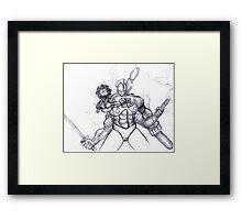 Dark Knight Robot Framed Print