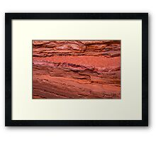 Kalamina Gorge Rock formation Framed Print