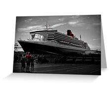 Queen Mary 2 at Victoria Quay Greeting Card
