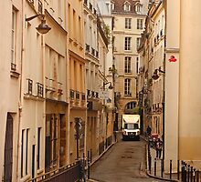 Narrow Street in Paris by Buckwhite