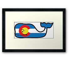 Colorado Themed Vineyard Vines Whale Framed Print