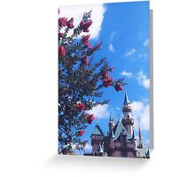 Disneyland Castle In The Summertime  Greeting Card