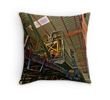Crane Train Throw Pillow