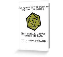 Natural 1 - Orc Greeting Card