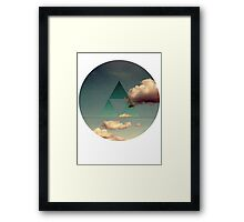 Triforce Clouds Framed Print
