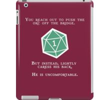 Natural 1 - Orc (White) iPad Case/Skin