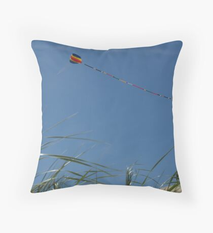 Kite over Dunes; Ocean Grove, NJ Throw Pillow