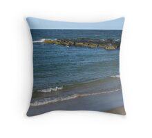 Stone Jetty; Ocean Grove, NJ Throw Pillow
