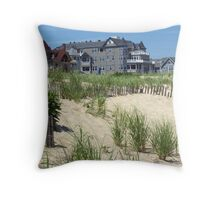 Beach Homes in Ocean Grove, NJ Throw Pillow
