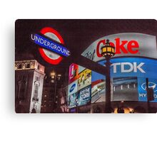 Piccadilly Circus, London Canvas Print