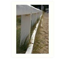 pier poles Art Print