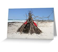Diftwood Teepee Greeting Card