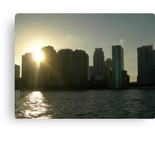 Miami skyline at sunset Canvas Print