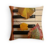 Autumn Leaf Trio on Piano Throw Pillow