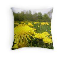 Dandelion In The Sun Throw Pillow