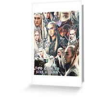 thranduil collage Greeting Card