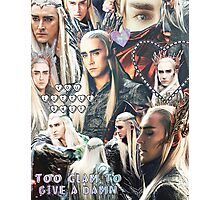 thranduil collage Photographic Print