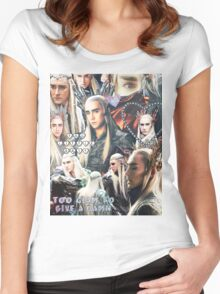 thranduil collage Women's Fitted Scoop T-Shirt