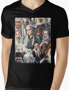 thranduil collage Mens V-Neck T-Shirt