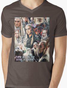 thranduil collage Mens V-Neck T-Shirt